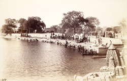Ghat on the Mana Sarovar Tank, Viramgam 1948